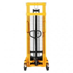 Vue de face du gerbeur manuel levée 3000 mm capacité 1500 kg