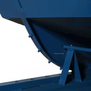 Zoom sur le système de basculement de la Benne Auto-Basculante 150 L