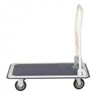 Chariot de Manutention Rabattable en Acier Plateau Antidérapant Capacité 150 kg