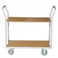 Chariot de Manutention Alto 2 Plateaux Capacité 200 kg