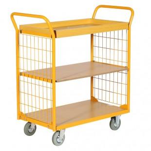 Chariot de manutention 3 plateaux bois 200 kg