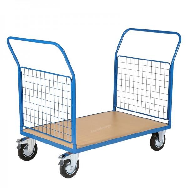 Chariot de Manutention Grillagé 2 côtés Capacité 500 kg