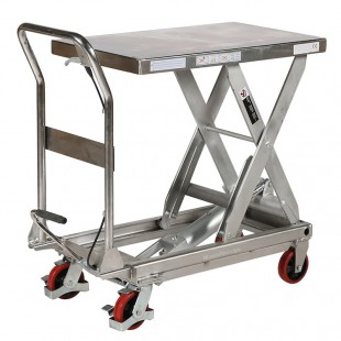 Table elevatrice en acier inoxydable capacité 250 kg