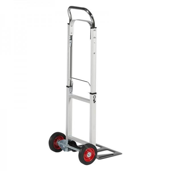Diable ultra léger, pliable en aluminium. Capacité 90 kg