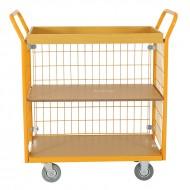 Chariot de Manutention Grillage Atic 3 Plateaux Capacité 200 Kg