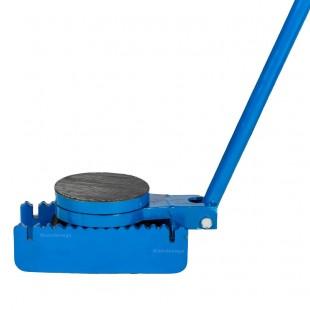 Vue de côté du patin rouleur avec platine pivotante anti dérapante