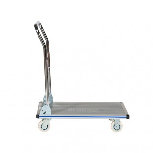 Chariot de manutention rabattable en aluminium léger 150 kg vue de profil