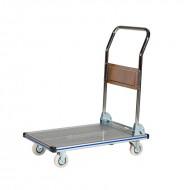 Chariot de Manutention Rabattable en Aluminium Plateau Antidérapant Capacité 150 kg
