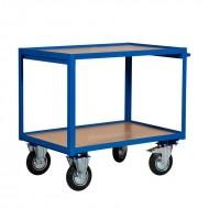 Servante d'Atelier 2 Plateaux Bois 1000 x 700 mm Capacité 300 kg