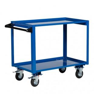 Servante d atelier 2 plateaux en acier capacité 250 kg