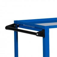Servante d'Atelier 2 Plateaux Acier 900 x 500 mm Capacité 250 kg