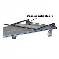 Chariot de Manutention Rabattable en Aluminium Plateau Antidérapant Capacité 350 kg