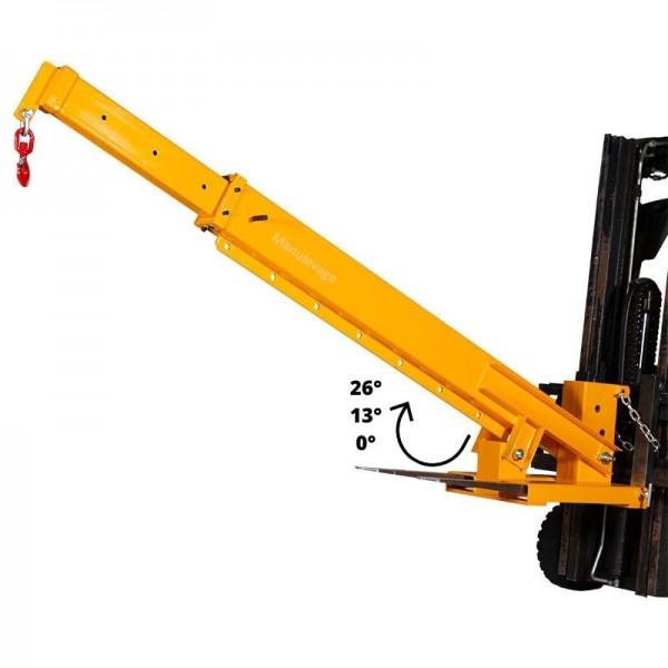 Potence télescopique articulée 3 tonnes pour chariot élevateur