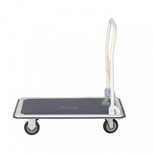 Vue de profil du chariot de manutention avec manche rabattable antidérapant 250 kg