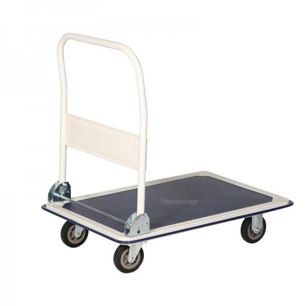 Chariot de Manutention 1 Plateau Antidérapant Capacité 250 kg