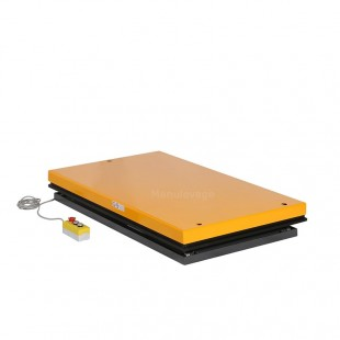 Table élévatrice electrique capacité 1000 kg plateau 1300 x 1000 mm 380 Volts en position basse