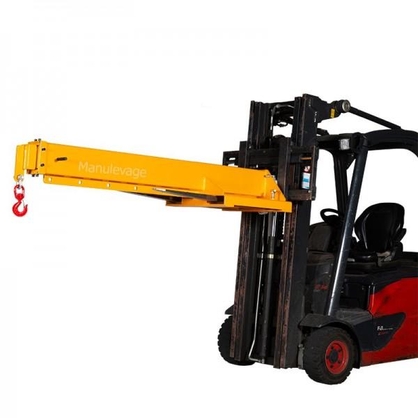 potence pour chariot élévateur télescopique fixe 3 tonnes