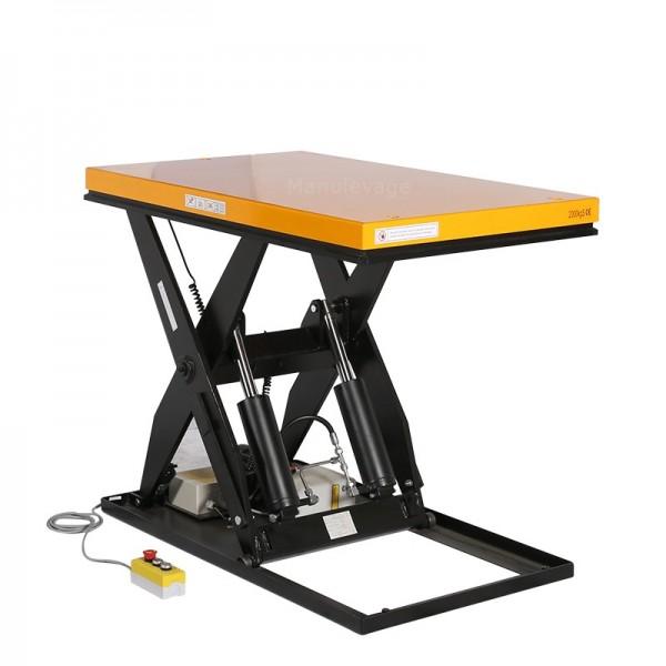 Table Elévatrice Electrique 2000 kg Plateau 1300x1000mm 380V