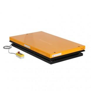 Table élévatrice électrique position basse plateau 1300 x 1000 mm