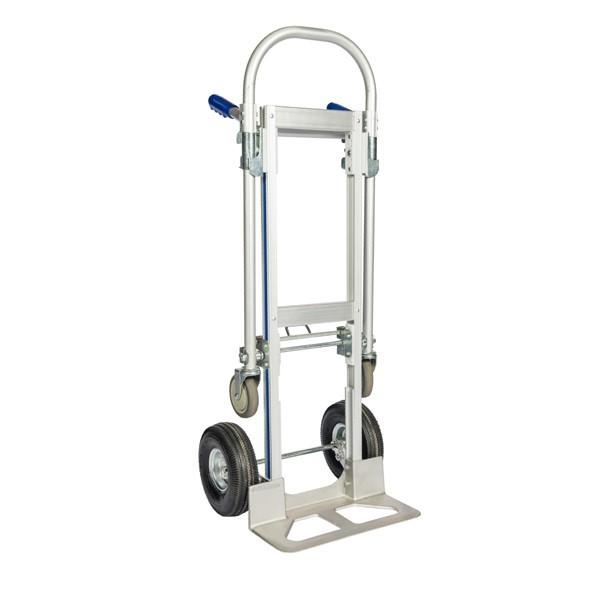 Diable chariot en aluminium 2 positions. Capacité 200 kg