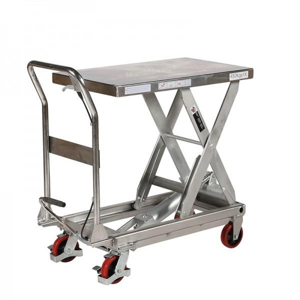 Table Elévatrice Mobile Manuelle INOX 450 Kg Levée 945 mm