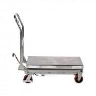 Table élévatrice mobile manuelle INOX 450Kg