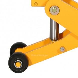 zoom des roues du cric hydraulique