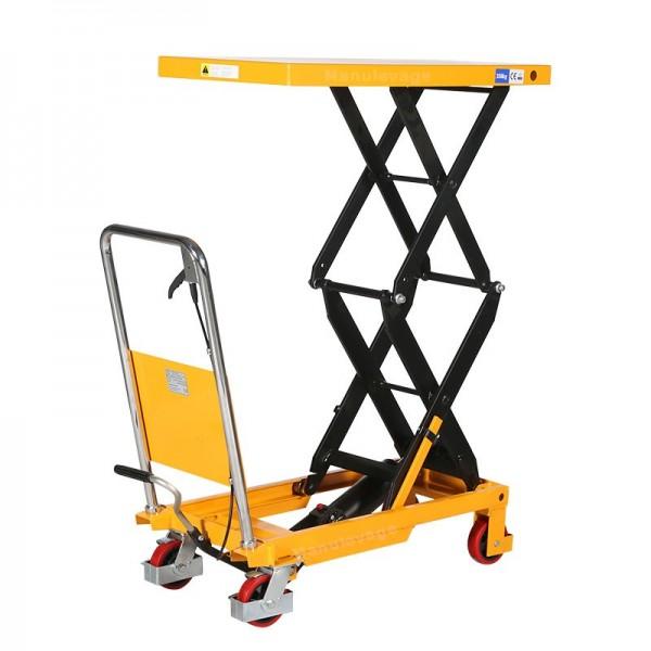Table elevatrice double ciseaux 350kg Plateau 910x500 mm