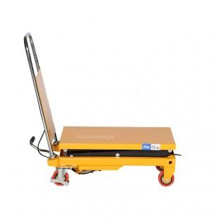 Profil de la table élévatrice manuelle  hydraulique 150 kg plateau bas