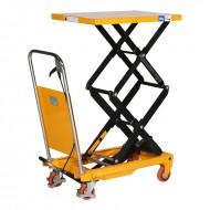 Table elevatrice manuelle 150 kg doubles ciseaux  plateau levé à 1100mm