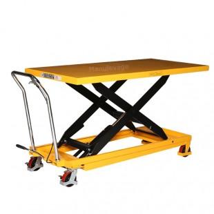 Table élévatrice 500 kg plateau 1600 x 810 mm levé.