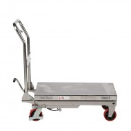 Table Elévatrice Mobile Manuelle INOX 250 Kg Levée 900 mm