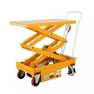 Table élévatrice mobile électrique capacité 500 kg vue arriere