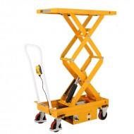 Table élévatrice mobile doubles ciseaux capacité 500 kg vue avant