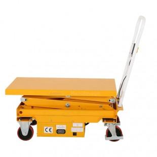 Vue de profil de la table élevatrice mobile capacité 500 kg