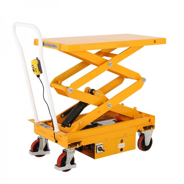 Table l vatrice lectrique 350kg plateau 910x500mm for Table elevatrice
