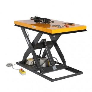 Table élévatrice électrique 1000 kg plateau en position haute 1300 x 800 mm