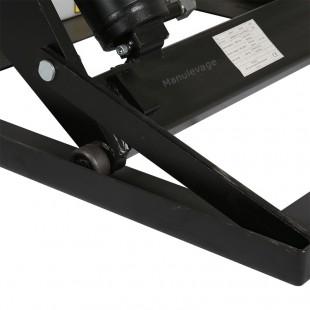 Zoom sur les barres anti-chutes de la table élévatrice électrique capacité 1000 kg.