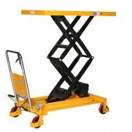 Table elevatrice manuelle doubles ciseaux 800 kg