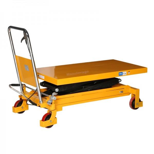 Table elevatrice double ciseaux 800kg Plateau 1220x610 mm