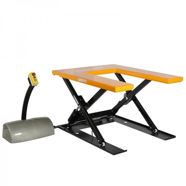 Table élévatrice électrique en U 1000 kg. Plateau 1450x1140