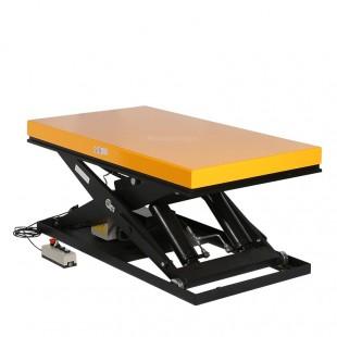 Table elevatrice electrique 2200 kg en cours de levage