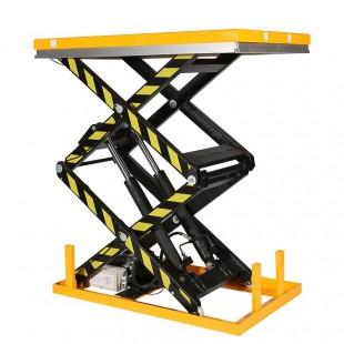 Table elevatrice electrique 1 tonne double ciseau en cours de levage