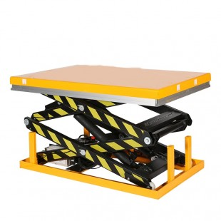 Table elevatrice electrique capacité 1 tonne doubles ciseaux