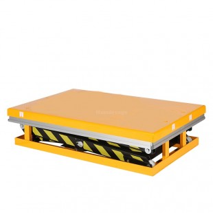 Table elevatrice electrique 1 tonne double ciseau plateau abaissé