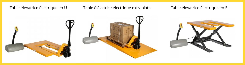 tables élévatrices électriques