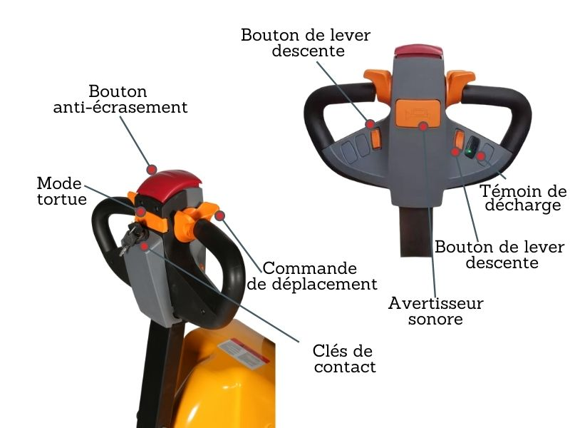 transpalette electrique boitier commande